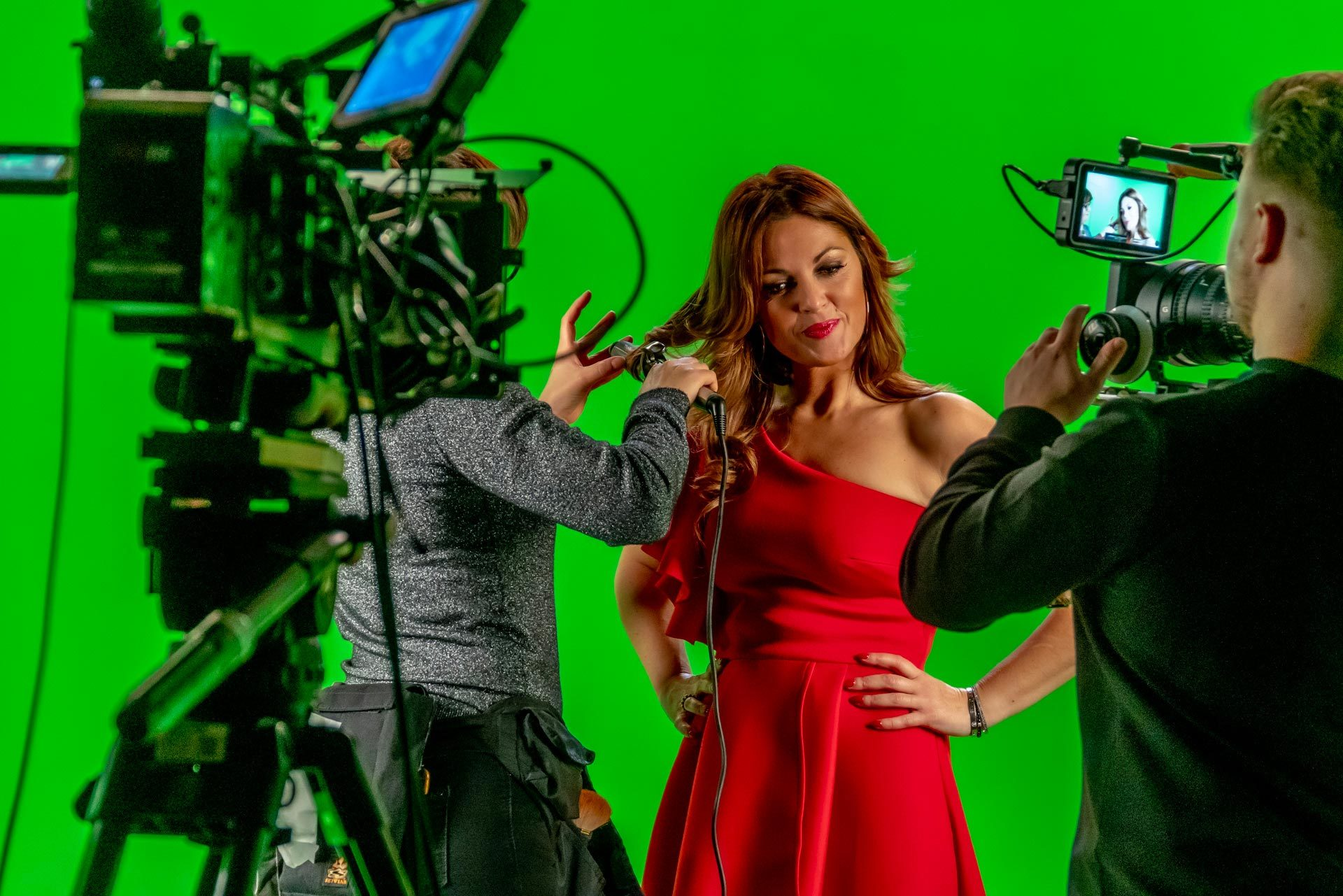 What we do television studio green key